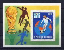 s5414) NIGER 1978 MNH** W.C. Football - Campionati del Mondo Calcio S/S