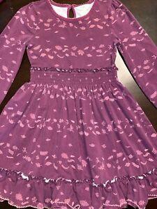 Matilda Jane Girls Size 6 Long Sleeve Fall Leaves Dress