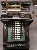 Vintage early Burroughs Calculator Adding Machine Tape Register mechanical antiq