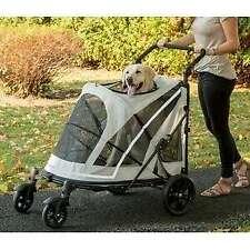Pet Gear Expedition No-Zip Pet Stroller gray