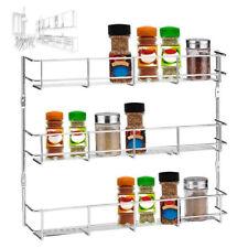 3 Tier Spice Herb Jar Rack Holder for Kitchen Door Cupboard Storage Wall