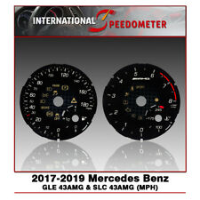 Speedometer Faceplate Fits a 2017-2019 Mercedes Benz GLE 43AMG & SLC43AMG (MPH)