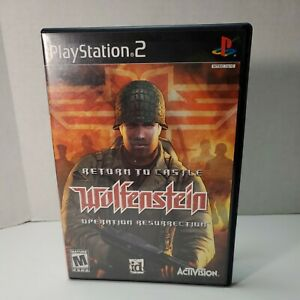 Return to Castle Wolfenstein: Operation Resurrection for PS2 CIB. tested