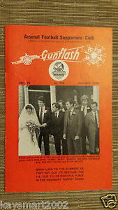 GUNFLASH - ARSENAL Football  Supporters Club Magazine Vol.33, No.318, JAN. 1982