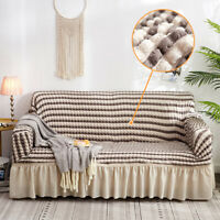 Bubble Sofa Cover with Skirt Universal stretch Couch Cover Furniture Slipcovers