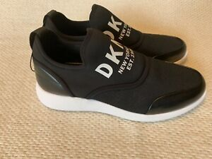 NEW! DKNY Women's Black Fashion Sneakers Donna Karan Athletic Shoes Leather 7