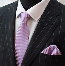 Tie Neck tie with Handkerchief Pink & White