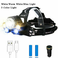 200000lm Rechargeable Headlight xhp70 Led Headlamp 18650 Head Torch Flashlight