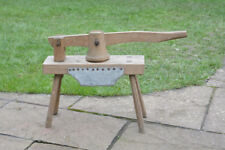 vintage wooden press old vegetable press hand tool kitchenalia - FREE POSTAGE