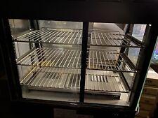 "26"" Countertop Self Service Heated Food Display Warmer with Doors 110V, 1500W"