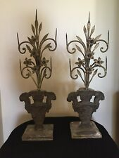 New listing Pair of Extremely Rare Antique Rustic Primitive Candelabras