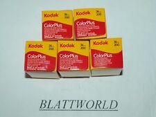 5 ROLLS fresh KODAK COLORPLUS 200 35mm 36 exposure 36exp COLOR FILM EXP.12/2019