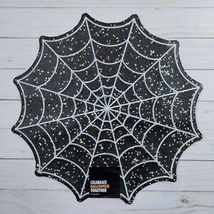 Placemat Centerpiece Halloween Spiderweb Glitter 15 Inch Round