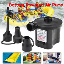 BATTERY POWERED ELECTRIC AIR PUMP FOR INFLATABLE BED AIRBED CAMPING FOOT