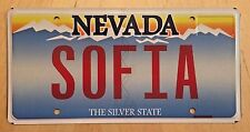 "NEVADA  Vanity License Plate "" SOFIA ""  SOPHIA SOFIE  SOPHIE BULGARIA"