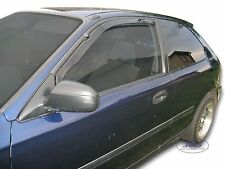 HONDA CIVIC mk5 3 door 1995-2001 Front wind deflectors 2pc set TINTED HEKO