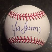 YUNEL ESCOBAR AUTOGRAPHED SIGNED OMLB BASEBALL BRAVES NATIONALS Clean Ball