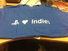 Sony Playstation 4 Indies T Shirt Blue