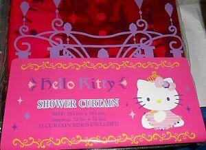MIP  Sanrio Hello Kitty Shower Curtain Victorian Chandelier Pink Purple Design