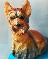 Yorkshire Terrier stone carving unique figure Selenite from Russia high quality