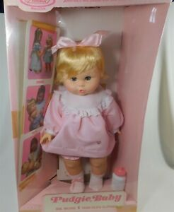 "HORSMAN 24"" PUDGIE BABY WETS DRINKS IN ORIGINAL BOX VINTAGE NRFB"