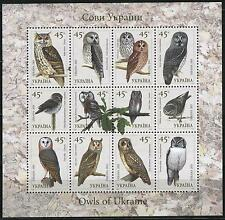 2003. Ukraine. Fauna. Birds. Owls. M/sh. MNH