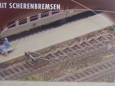 2 Stck. Prellböcke m. Scherenbremsen  - Faller HO Bausatz 1:87 - 120322 #E