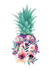 3� Girl Cute Flowers Pineapple Tropical Hawaiian Aloha Beach Vinyl Cool Sticker