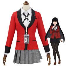 Kakegurui Compulsive Gambler Cosplay Halloween Costume School Girl Jabami Suzui