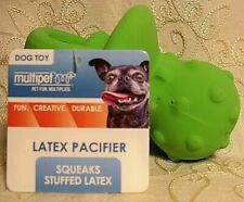 """Vibrant Life DARK GREEN PACIFIER Shaped Latex Fetch Chew Squeaky Dog Toy BABY 4"""""""