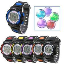 Unisex Boys Girls Alarm Date Digital Waterproof Watch LED Light Wrist Watches