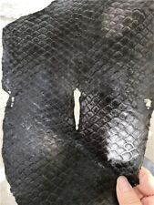 2PCS Fish Leather Skin Real Grass Carp Fishskin Soft Hides Finish Craft PELT DIY