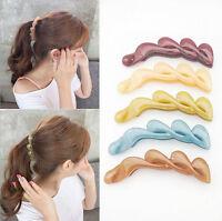 Fashion Banana Fish Women Hair Clips Hair Accessory Transparent Ponytail Holder