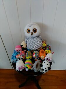 Ty Beanie Boos - 1 large 25 cms plus 14 small 9 cms -  6 are new with tags
