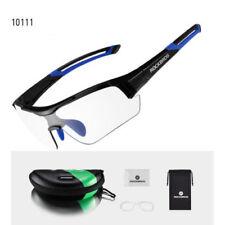 ROCKBROS Cycling PC Photochromatic Transparent Glasses UV400 Black Blue Goggles