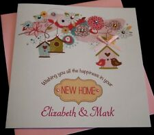 Handmade Personalised Good Luck In Your New Home Card