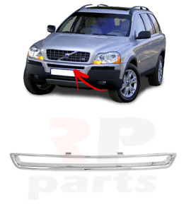 FOR VOLVO XC 90 2002 - 2006 NEW FRONT BUMPER CENTER GRILLE CHROME TRIM 30678000