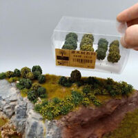 Lotto di 12 pezzi Scala 1: 35/1: 48/1: 87 Albero in miniatura per modellismo