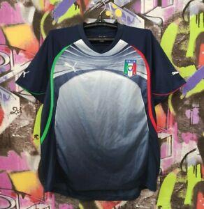 Italy National Football Team Shirt Soccer Jersey Maglia Camiseta Puma Mens Sz L