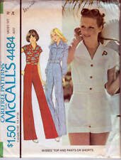 Vintage Sewing Pattern McCall's 4484 Top & Wide Leg Pants or Shorts
