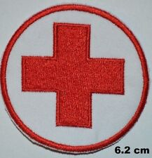 Red Cross Medical Help Embroidered Iron-On Patch Costume/ Bag badge