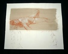 Hawaii Mixed Media Wash Painting Sleeping Female Nude by Snowden Hodges(Sho)#104