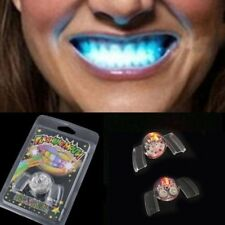 Hot Fashion Flashing LED Light Up Mouth Braces Piece Glow Teeth For Halloween