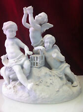 SEVRES FRENCH BISQUE PORCELAIN FIGURAL LOVELY CHERUBS /The mark indicates 1754s