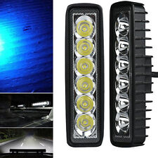 18W LED Spot Light Work Bar Lamp Driving Fog Offroad SUV 4WD Car Boat Truck Blue