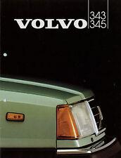 Prospekt Volvo 343 345 1982 Autoprospekt 9607-82 Broschüre Auto brochure catalog
