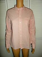 Great Alex Mill size XS Shrunken pink white stripe button down shirt women NWT