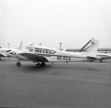 Piper Aztec, SE-ECA, circa 1960s ? , large size NEGATIVE