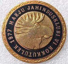 1977 USSR Russia Estonia Harju Hunting Society Heavy Brass Moose Head Medal