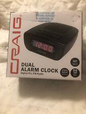 Craig Dual Alarm Clock Digital PLL FM Radio LED Display Battery Back Up Sealed